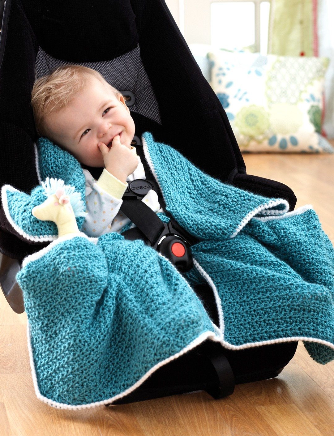 Free Crochet Pattern For Baby Car Seat Cover : Bernat Car Seat Blanket Yarnspirations