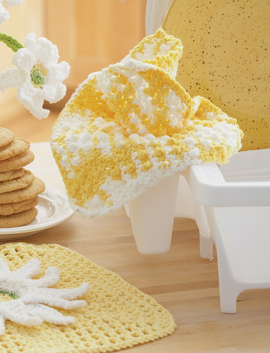 Daisy - Plain Dishcloth