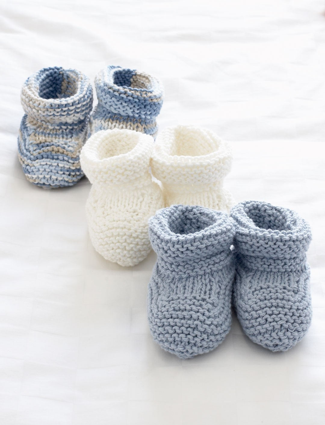 Knitting Baby Booties Patterns : Baby s booties patterns yarnspirations
