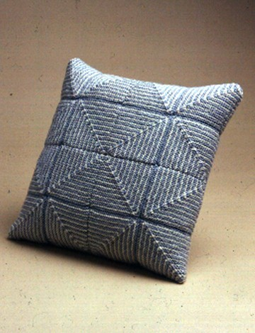 Large Pastel Squares Pillow