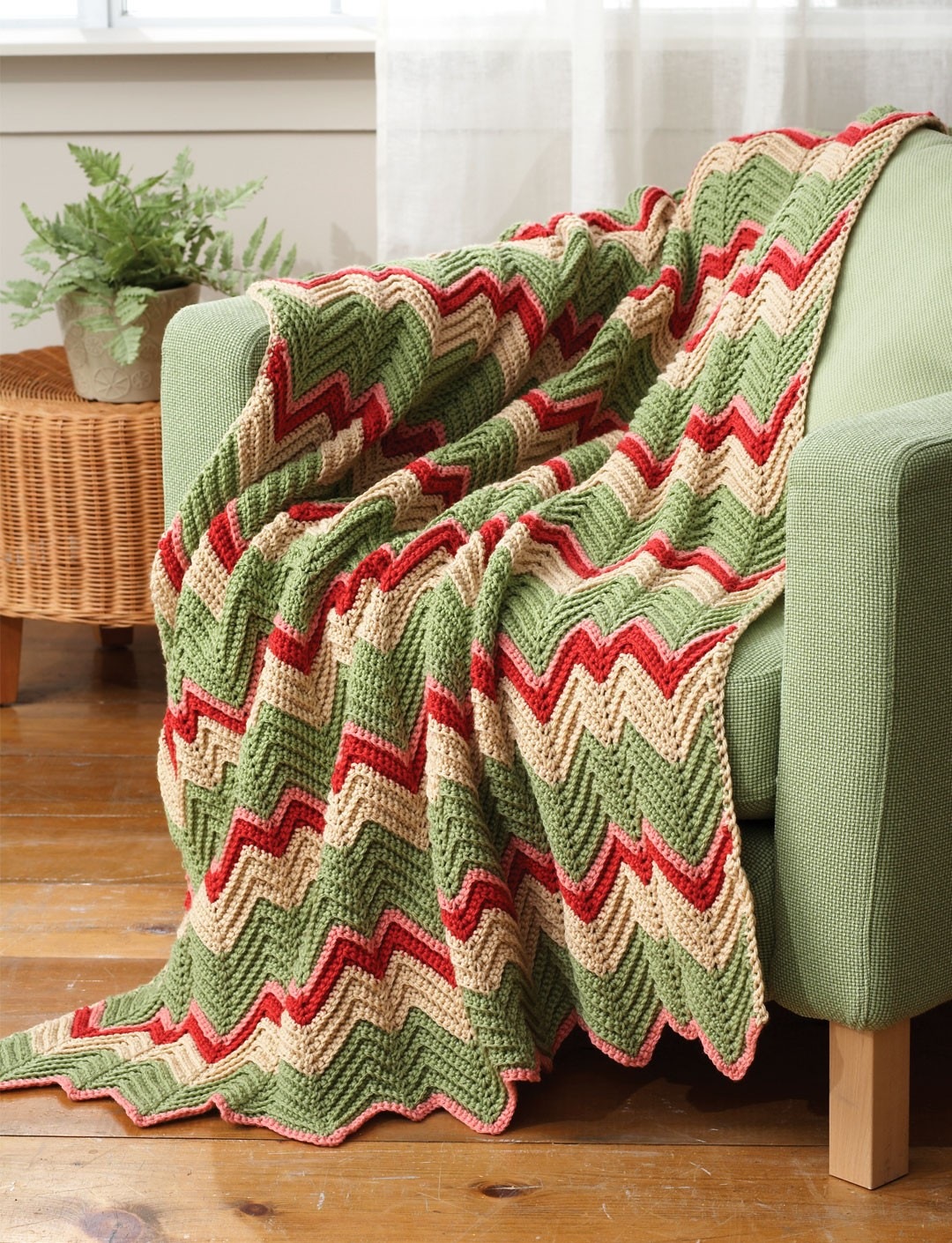 Crocheting A Zig Zag Afghan : Zig-Zag Afghan - Patterns Yarnspirations