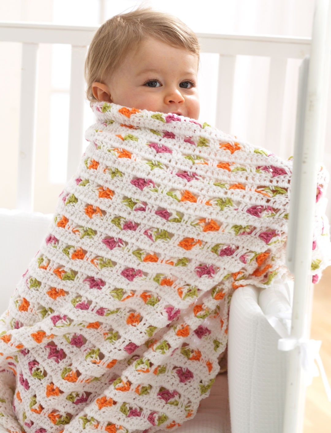 Free Crochet Patterns Using Baby Clouds Yarn : Bernat Baby Blanket, Crochet Pattern Yarnspirations