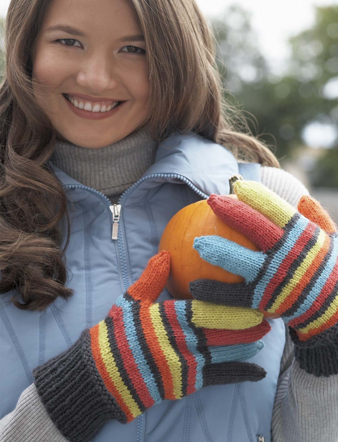 Striped Gloves - Medium Worsted