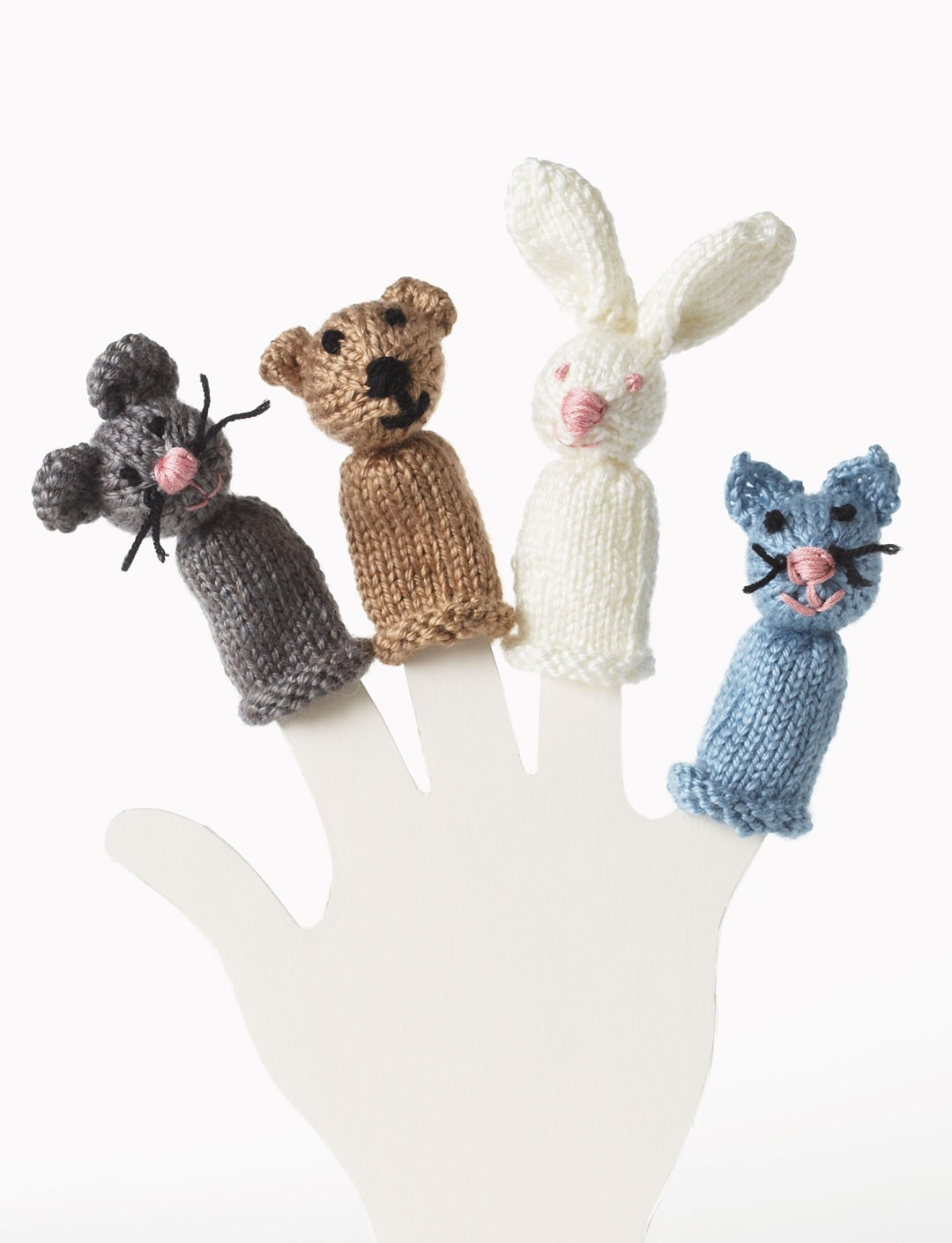 Bear, Bunny, Kitty and Mouse Finger Puppet