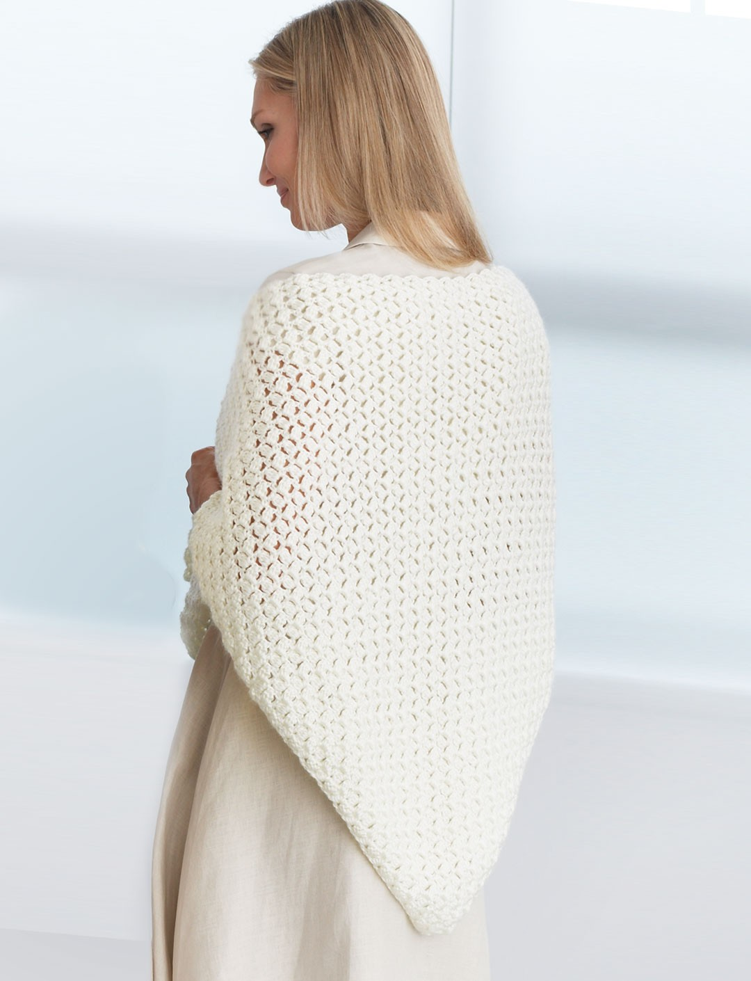 Free Easy Crochet Patterns For Prayer Shawls : Crochet Prayer Shawl - Patterns Yarnspirations