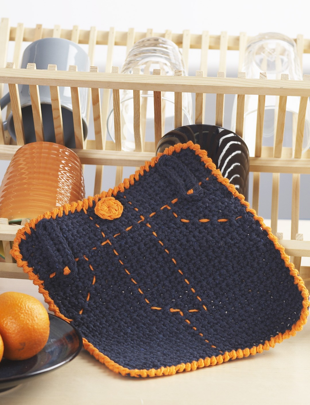 Fly Front Dishcloth