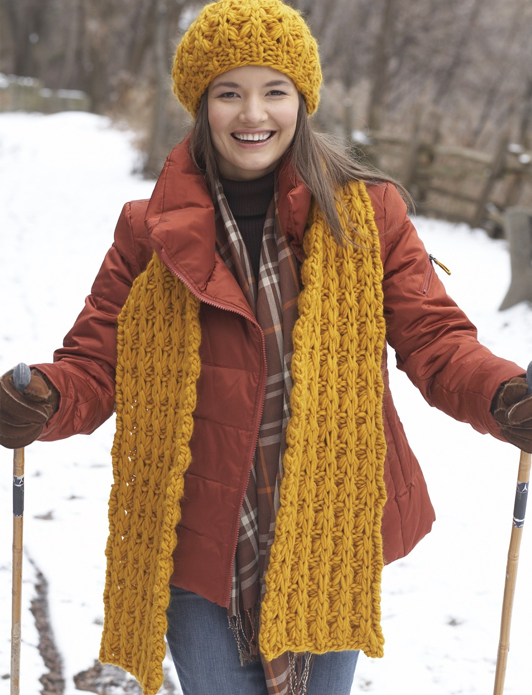Giant Stitch Hat and Scarf