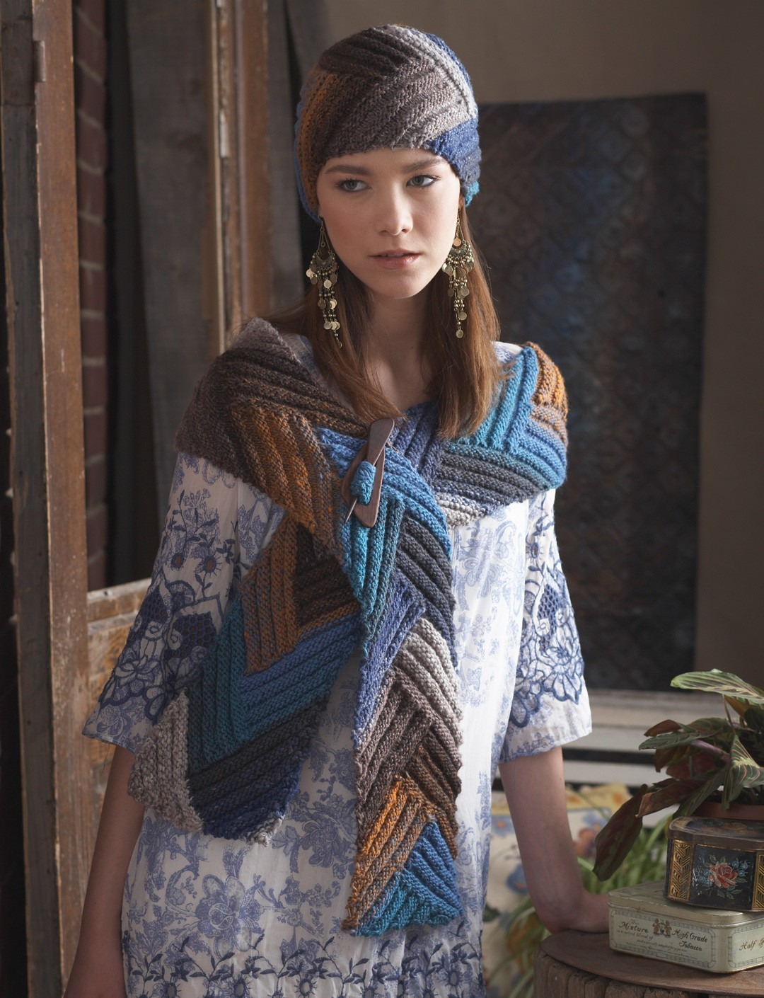 Directional Hat and Scarf