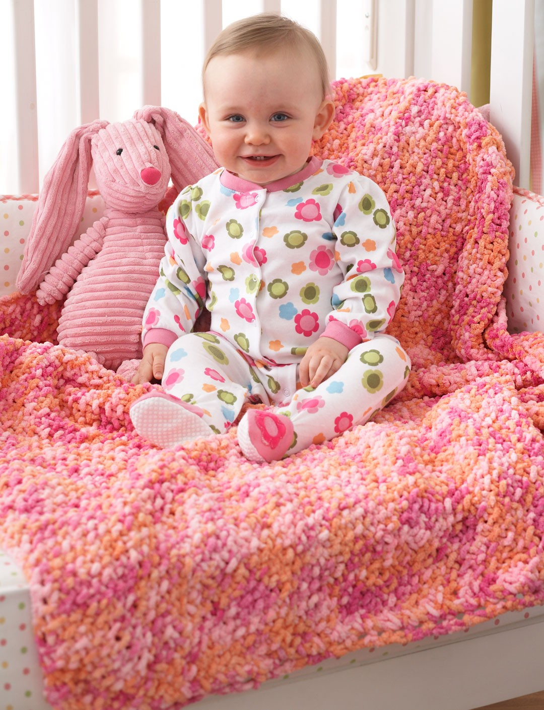 Bernat Baby Blanket Knitting Patterns : Bernat Corner to Corner Seed St Blanket, Knit Pattern Yarnspirations