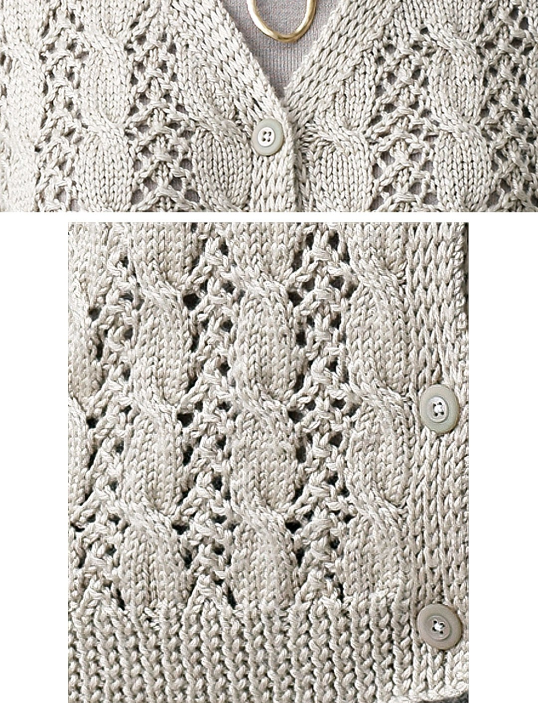 Lace Cardigan Knitting Pattern : Patons Lace and Cable Cardigan, Knit Pattern Yarnspirations