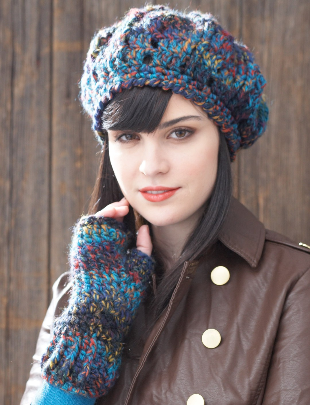 Beret and Fingerless Gloves