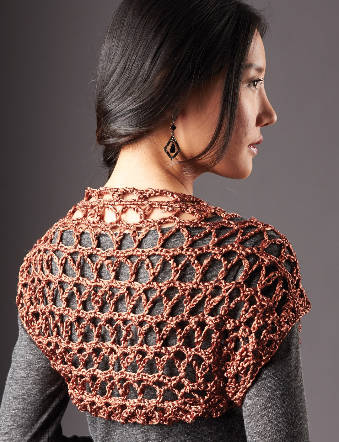 Patons touch of shine shrug crochet pattern yarnspirations touch of shine shrug bankloansurffo Gallery