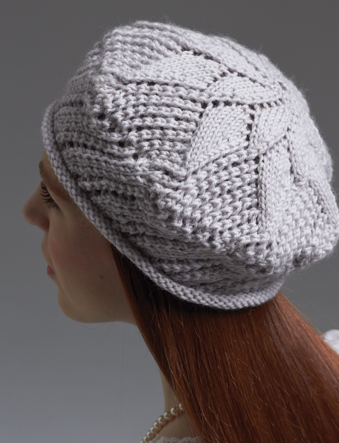 Patons Lace Beret, Knit Pattern Yarnspirations