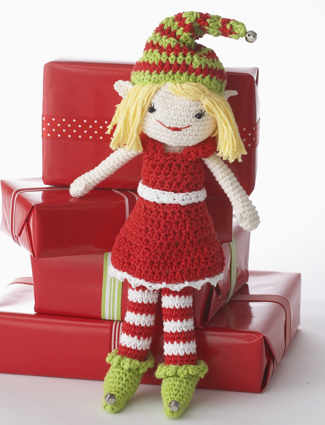 Knitting Pattern For Elf On The Shelf : Lily Lily the Christmas Elf Doll, Crochet Pattern Yarnspirations