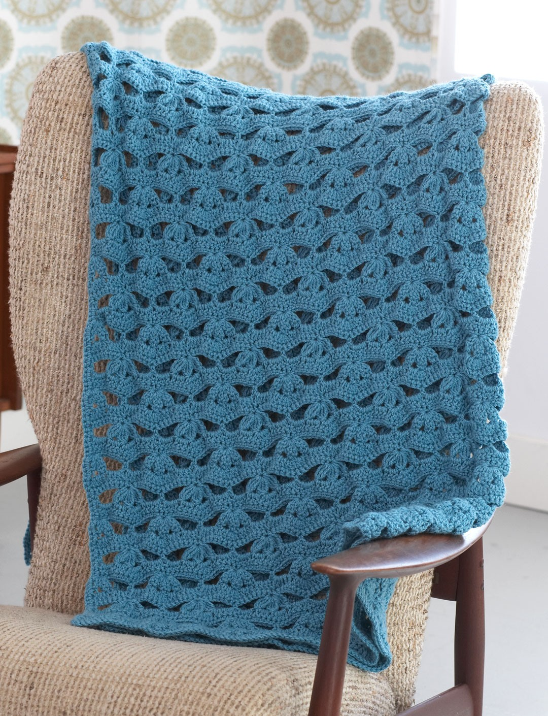 Caron Crochet Baby Blanket Pattern : Yarnspirations.com - Caron Open Lacy Throw - Patterns ...