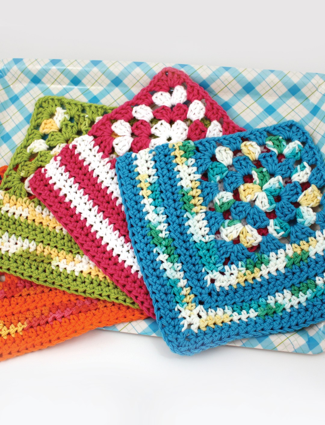 Lily Granny Corner Dishcloth, Crochet Pattern Yarnspirations
