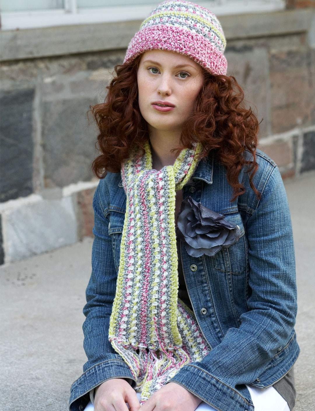 Crochet Scarf and Hat Set