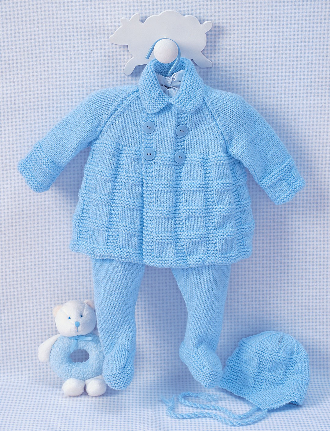 Bernat Pram Set, Knit Pattern Yarnspirations