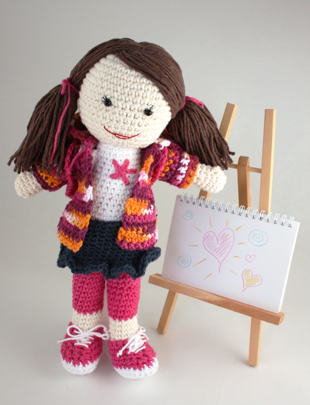 Lily Sugar And Cream Free Crochet Patterns : Lily Back to School Lily Doll, Crochet Pattern ...
