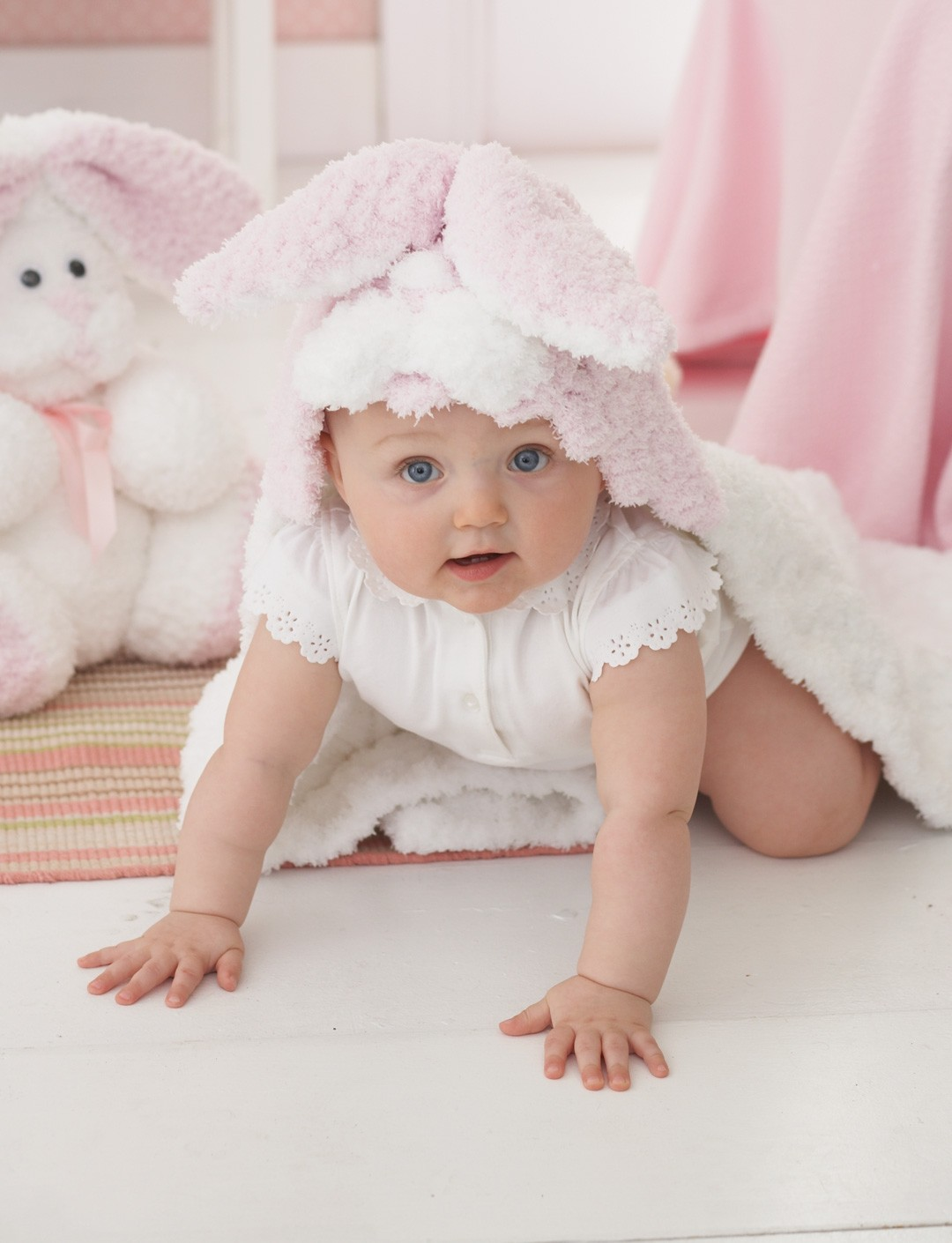 Bunny Hop Hooded Blanket