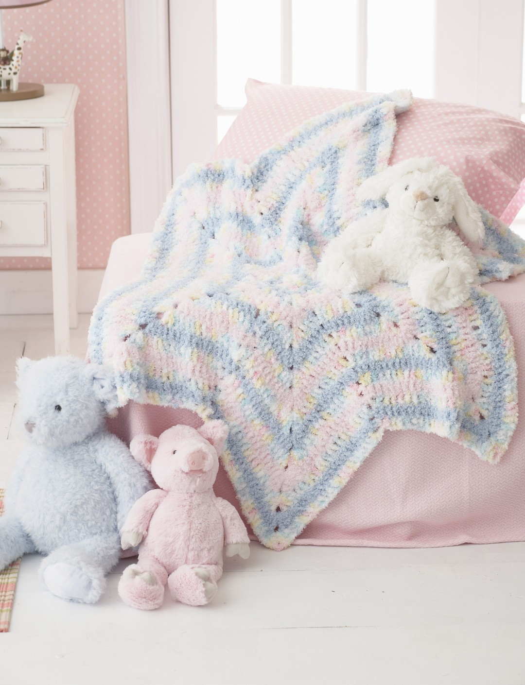 Bernat Soft Stripes Star Blanket, Crochet Pattern Yarnspirations