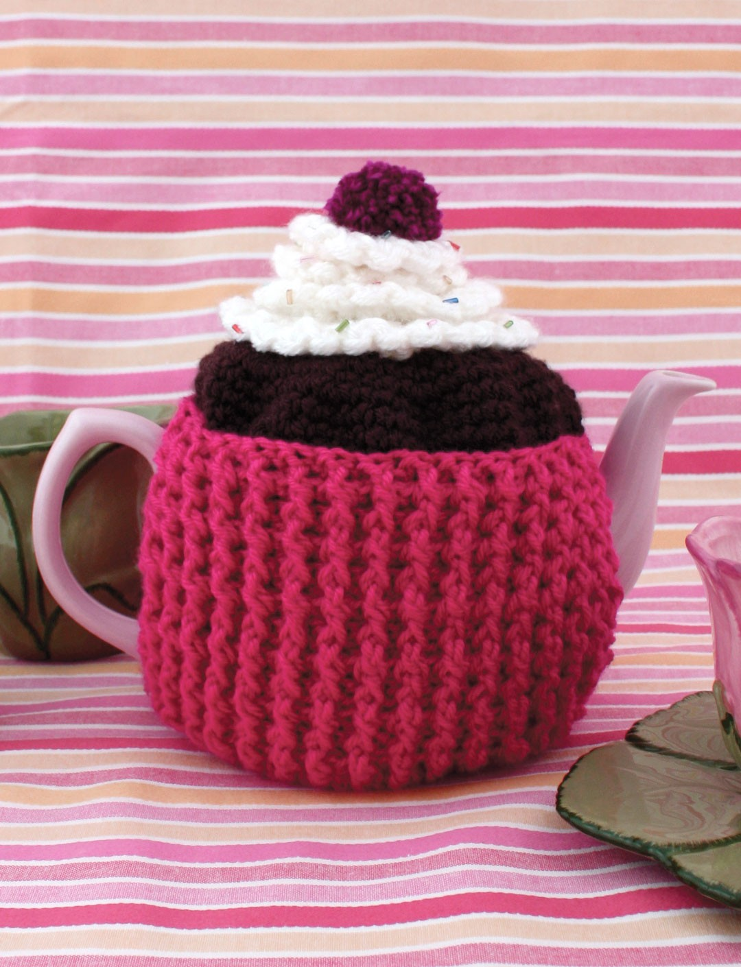 Cupcake Tea Cosy Knitting Pattern Free: Cupcake tea cosy. Dot ...