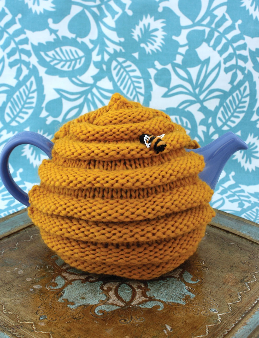 Easy Knitting Pattern For Tea Cosy : Patons Beehive Tea Cozy, Knit Pattern Yarnspirations