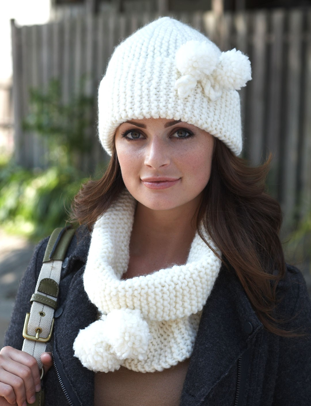 Free Knitting Patterns Cowl Hat : Yarnspirations.com - Bernat Acorn Hat - Patterns Yarnspirations Hats Hats...