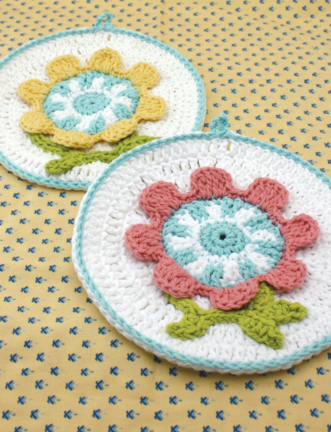 Spring Flower Dishcloth