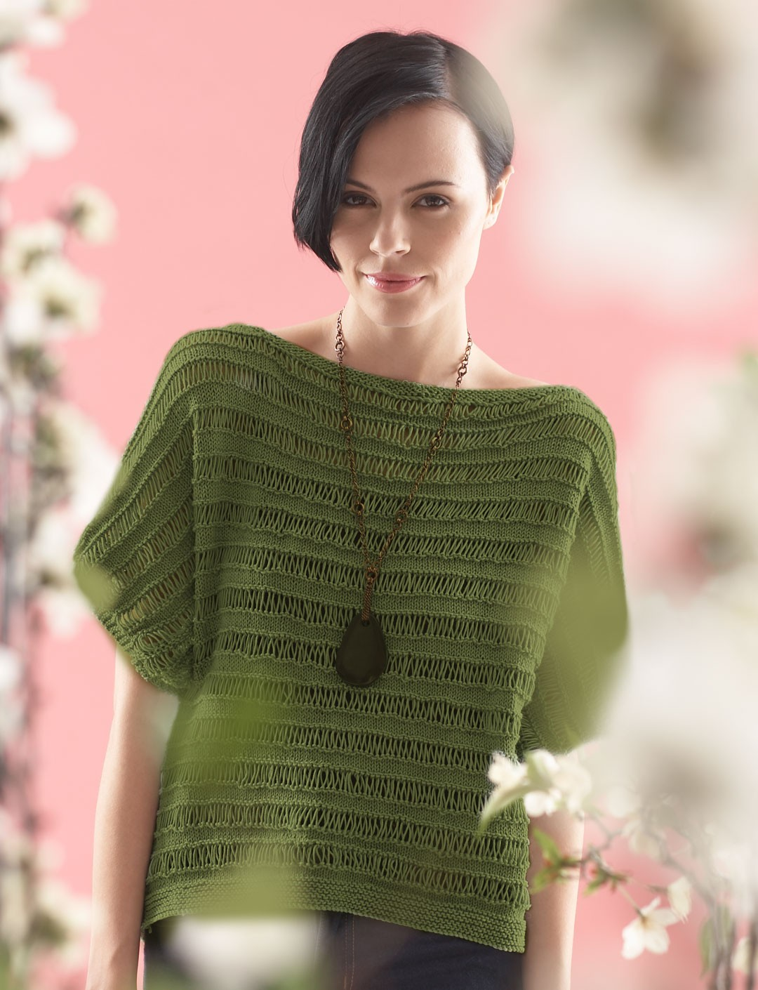 Free Drop Stitch Knitting Patterns : Patons Grace - Drop Stitch Top, Knit Pattern Yarnspirations