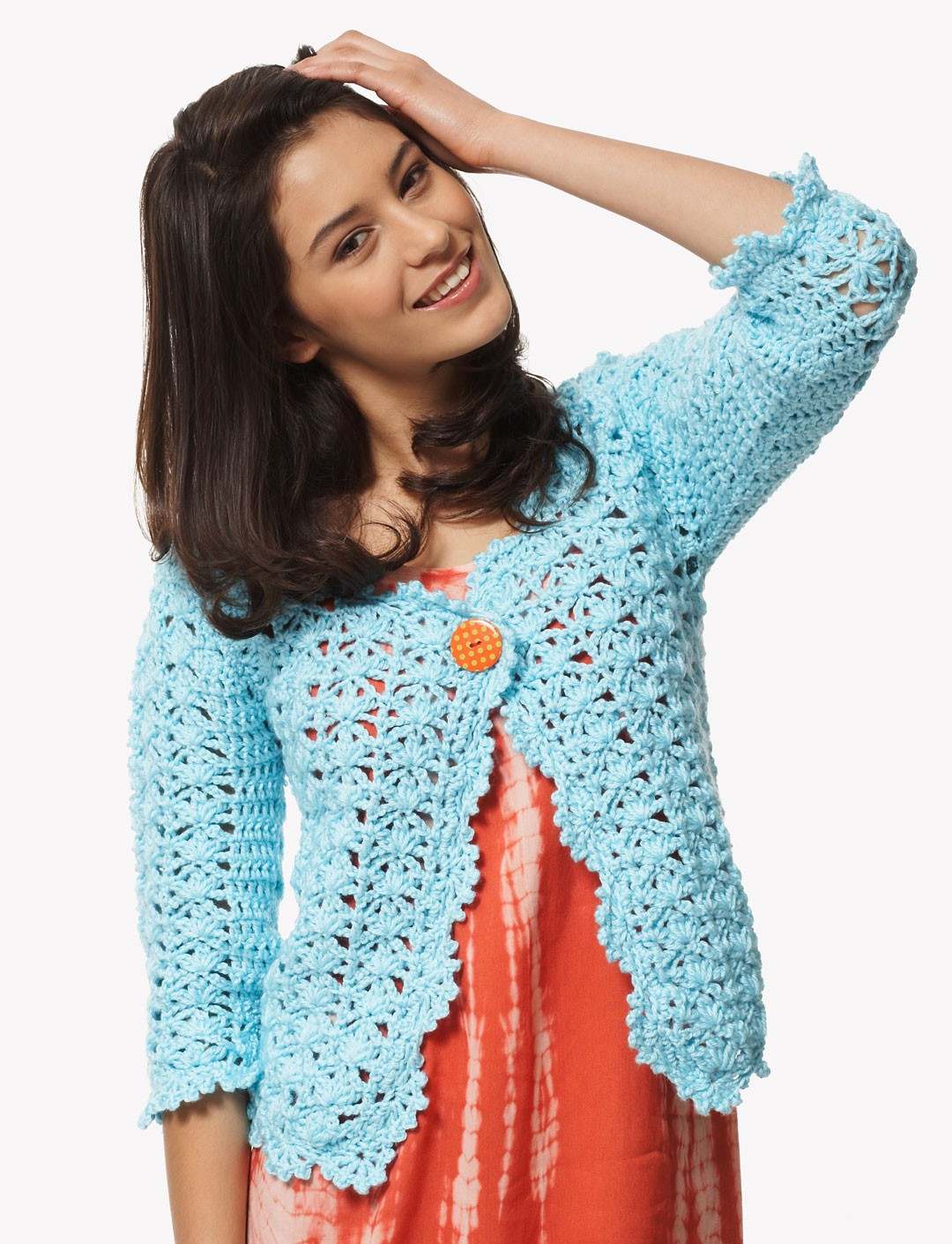 Bernat On the Lace Cardigan, Crochet Pattern | Yarnspirations