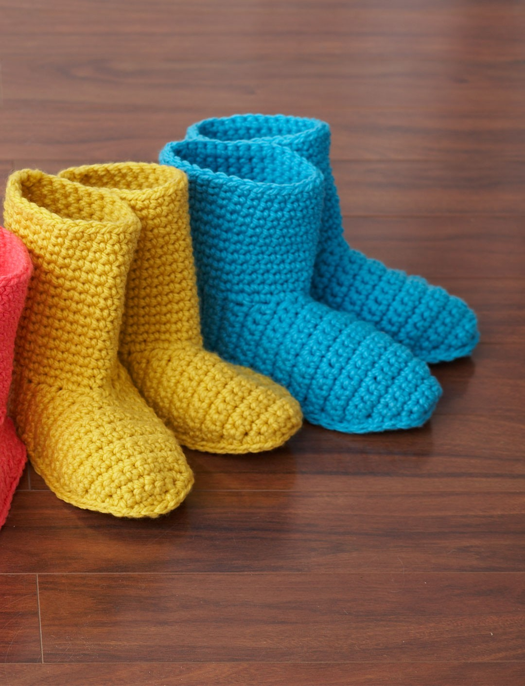 Bernat slipper boots crochet pattern yarnspirations slipper boots bankloansurffo Choice Image