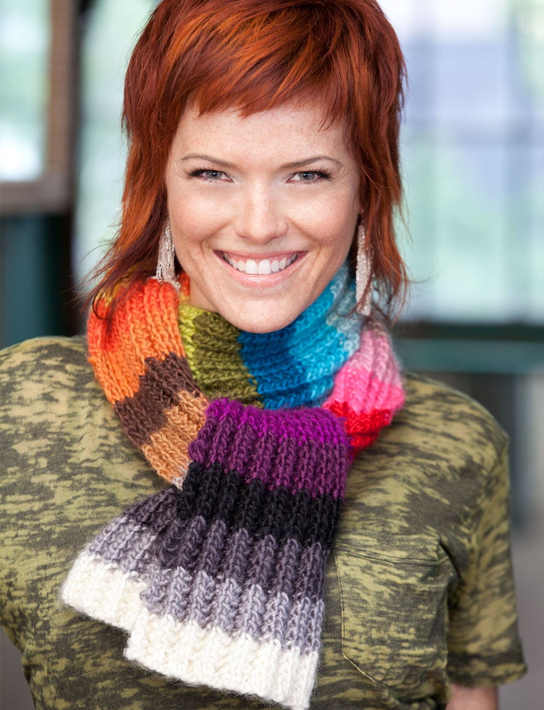 Color Card Scarf (Crochet)