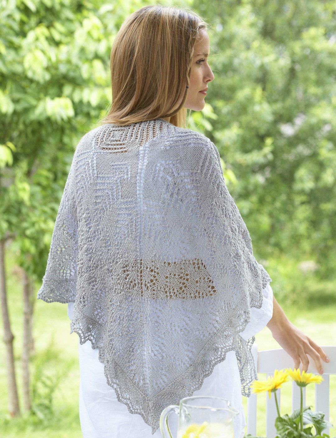 Bernat lace knit shawl knit pattern yarnspirations lace knit shawl bankloansurffo Image collections
