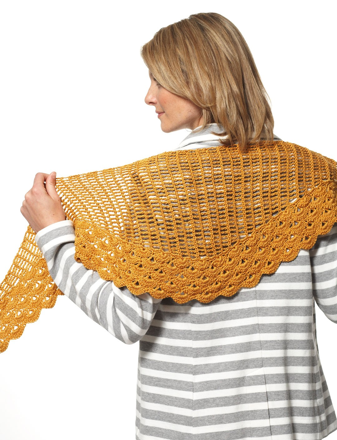 Patons Grace - Staggered Shells Wrap (crochet), Crochet ...