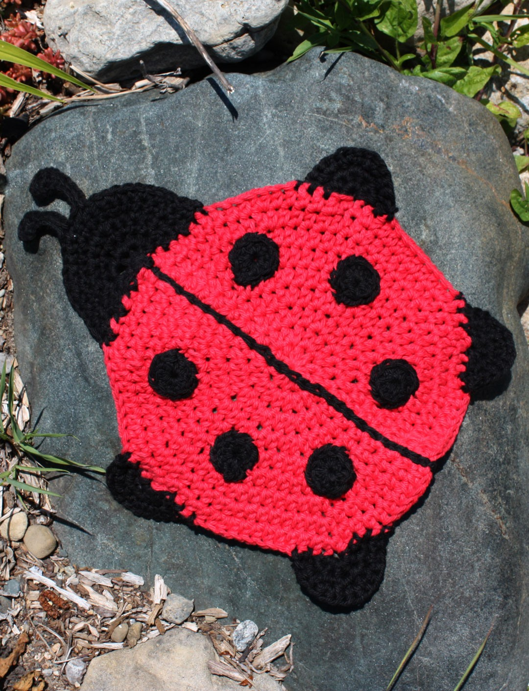 Free Crochet Patterns Lily Sugar Cream : Lily Ladybug Dishcloth, Crochet Pattern Yarnspirations