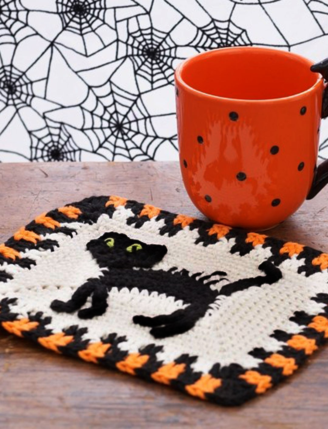 Scaredy Cat Dishcloth