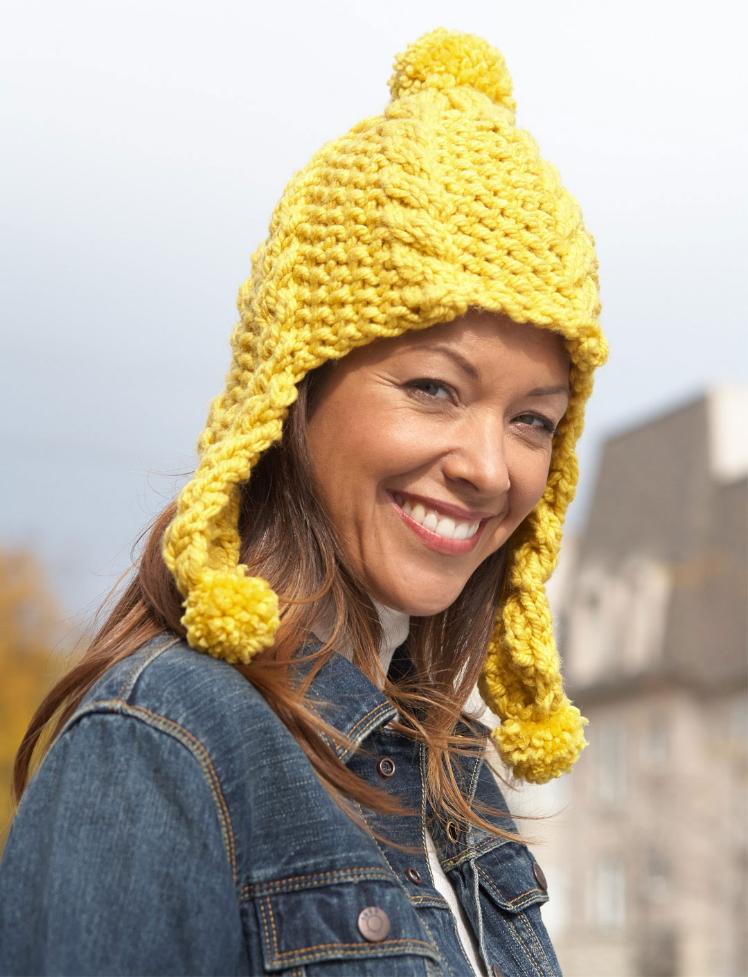 Golden Glow Earflap Hat