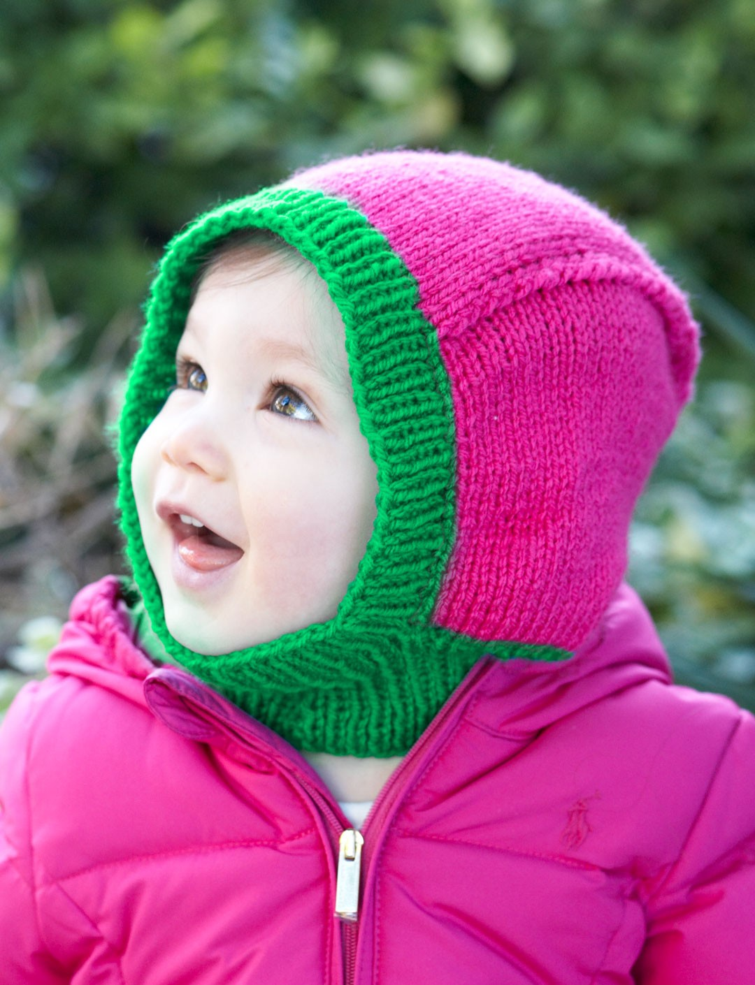 Knitting Pattern Of Baby Balaclava : Patons Baby Hood, Knit Pattern Yarnspirations