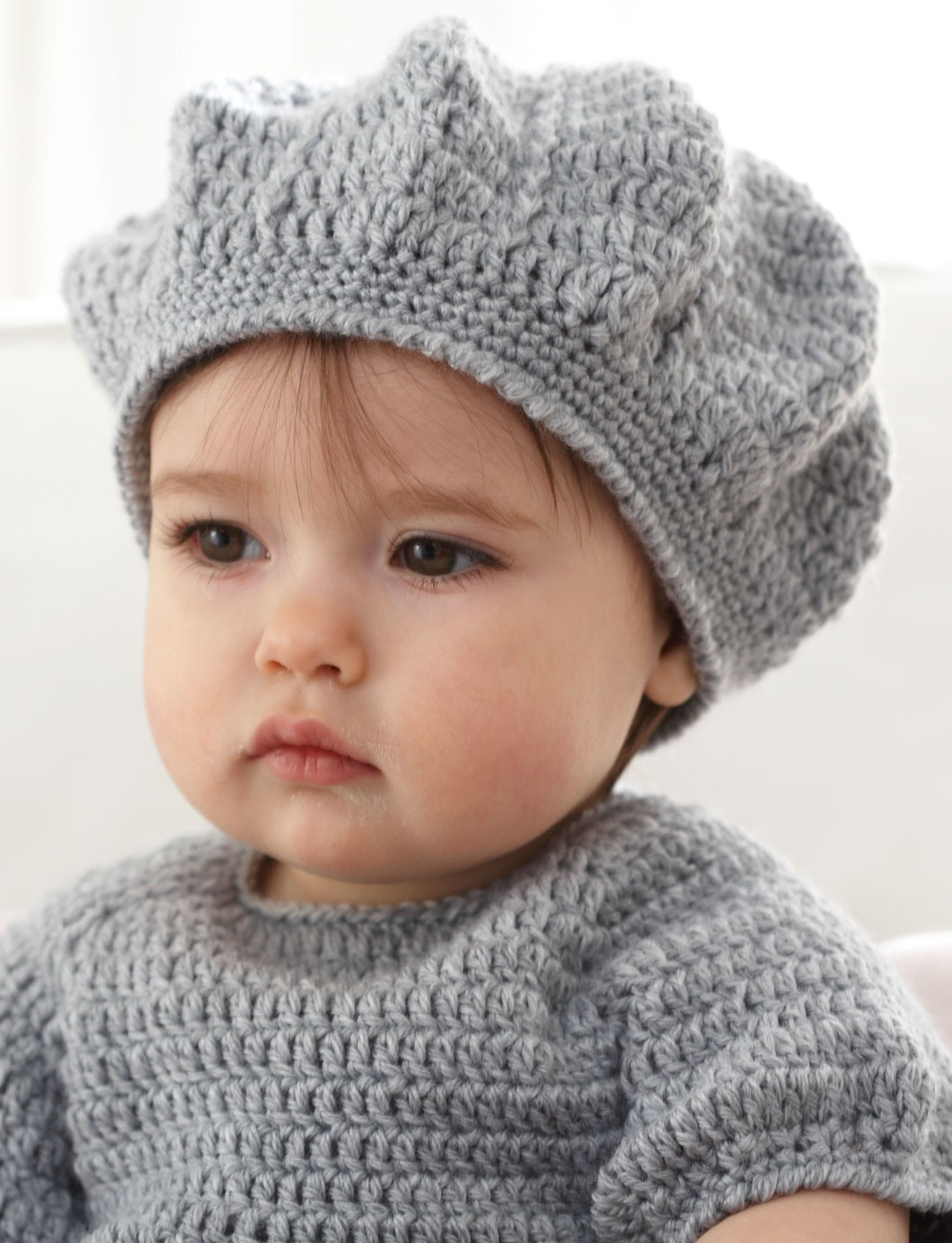 Knitted Beret Pattern Toddler : Patons I Heart My Dress, Crochet Pattern Yarnspirations
