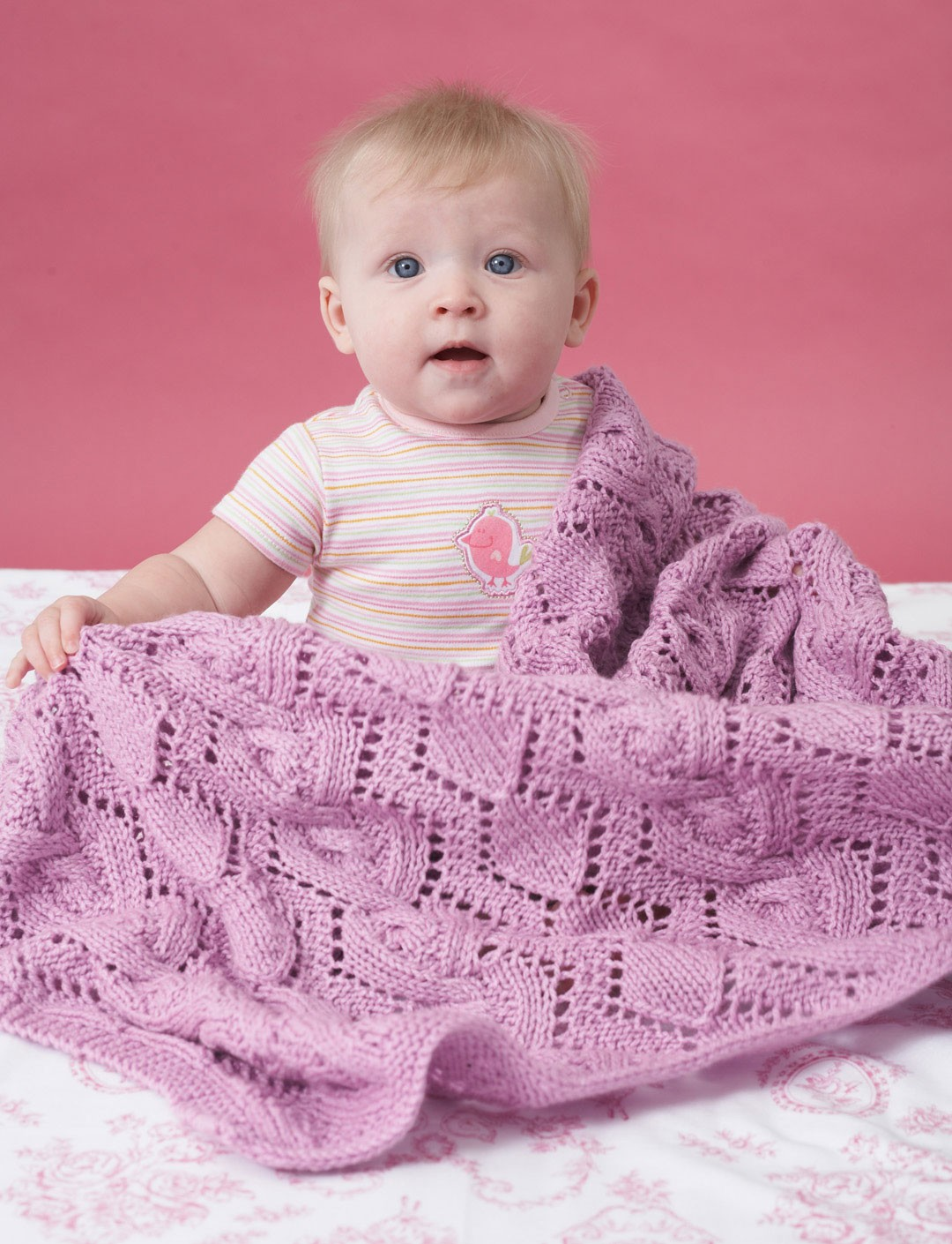 Bernat Knitting Patterns Free : Bernat Cable and Lace Blanket, Knit Pattern Yarnspirations
