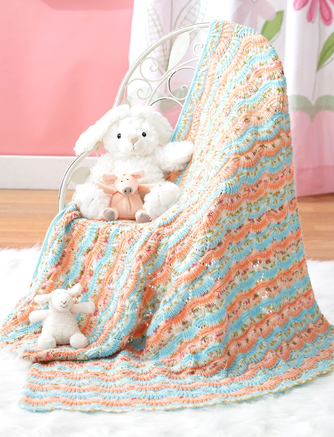 Scallop Stripes Blanket
