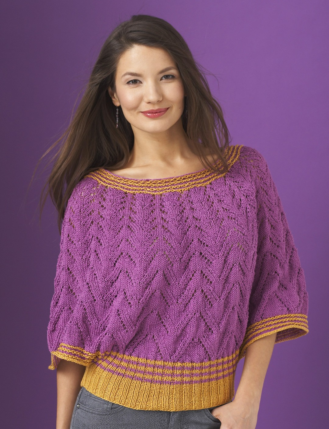 Knit Top Patterns : Patons Butterfly Top, Knit Pattern Yarnspirations