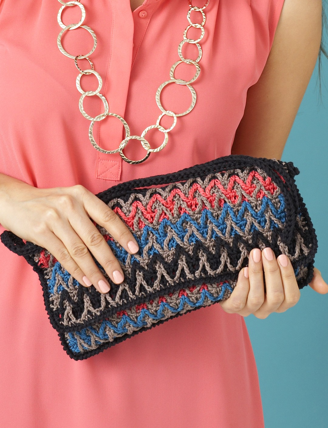 Bargello Stripes Purse