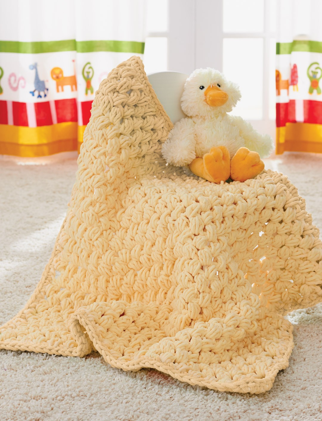 Crochet Patterns Using Bernat Blanket Yarn : Puffy Baby Blanket Yarnspirations