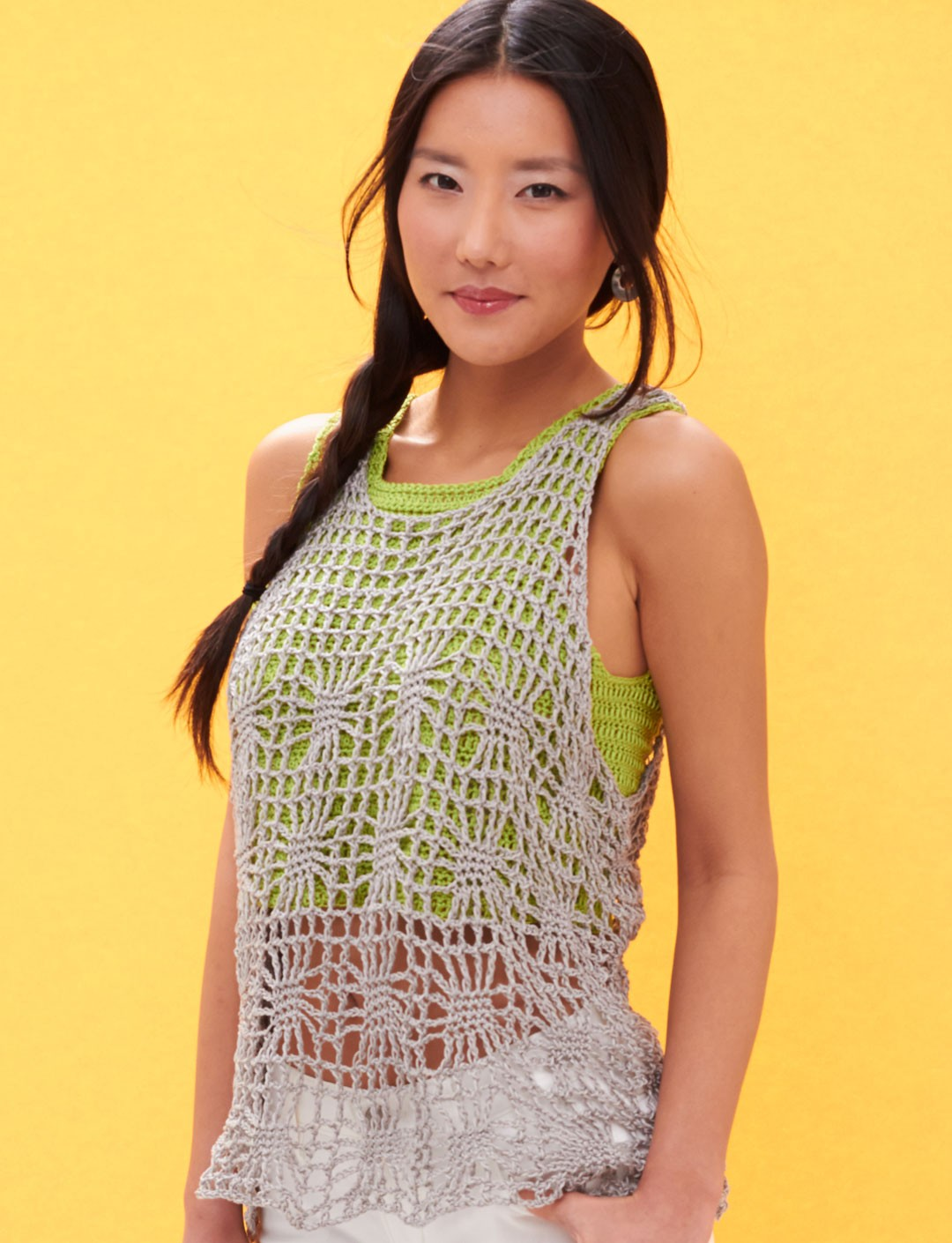 Knit Top Patterns : Patons Light Layers Tank, Crochet Pattern Yarnspirations