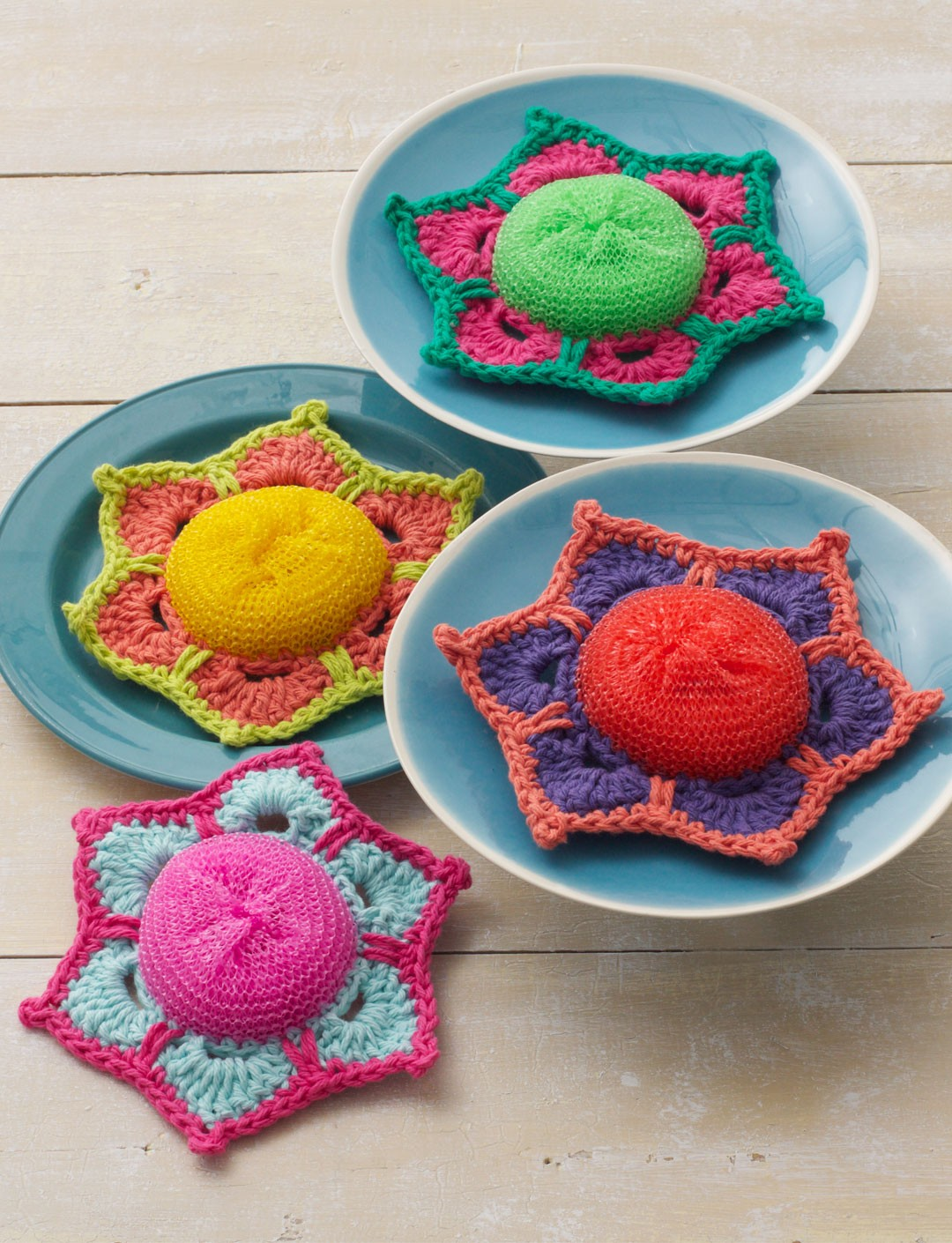 Lily Sugar And Cream Free Crochet Patterns : Lily Scrubby Posey, Crochet Pattern Yarnspirations