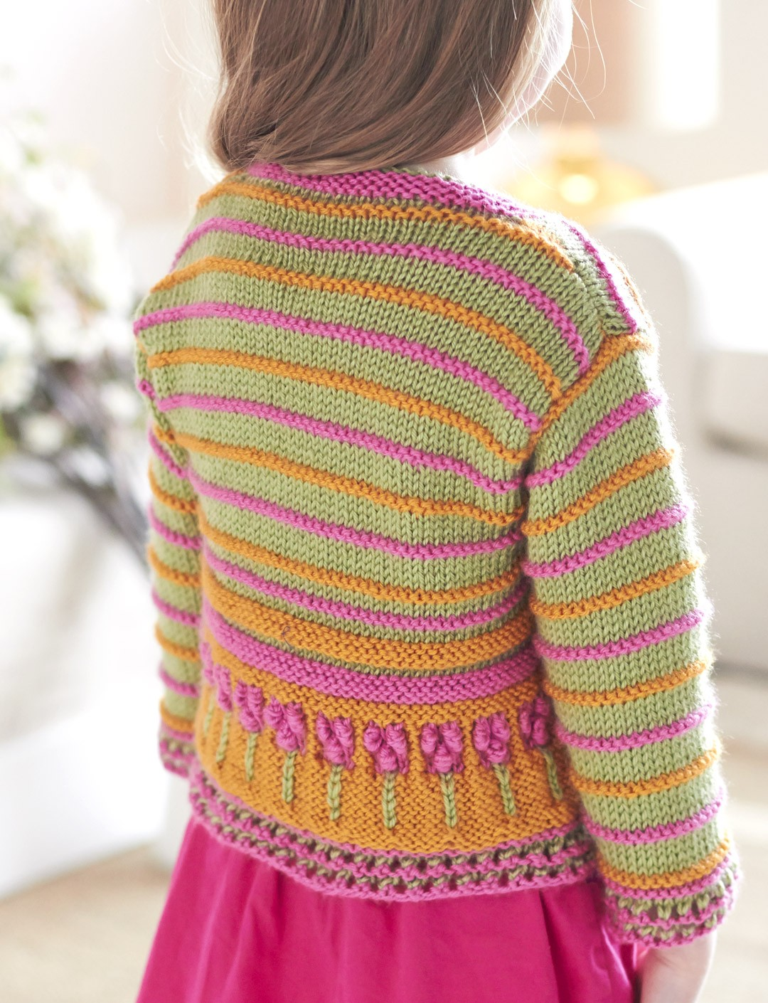 Flower Border Cardigan