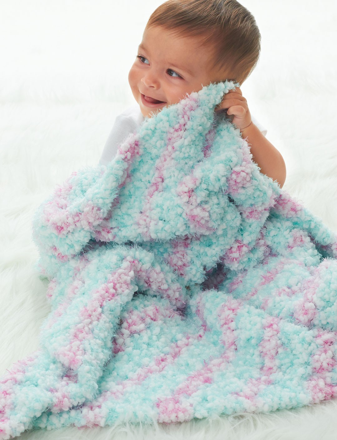 Bernat Baby Blanket Knitting Patterns : Bernat Corner to Corner Blanket, Crochet Pattern Yarnspirations
