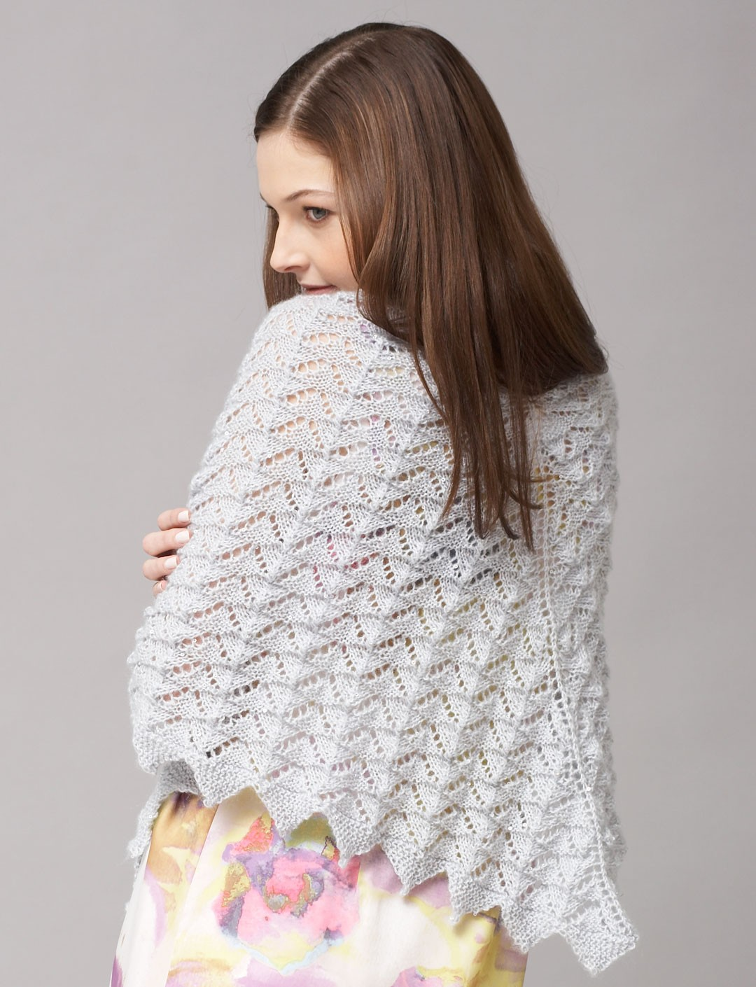 Patons Free Knitting Patterns : Patons Chevron Lace Shawl or Scarf, Knit Pattern Yarnspirations